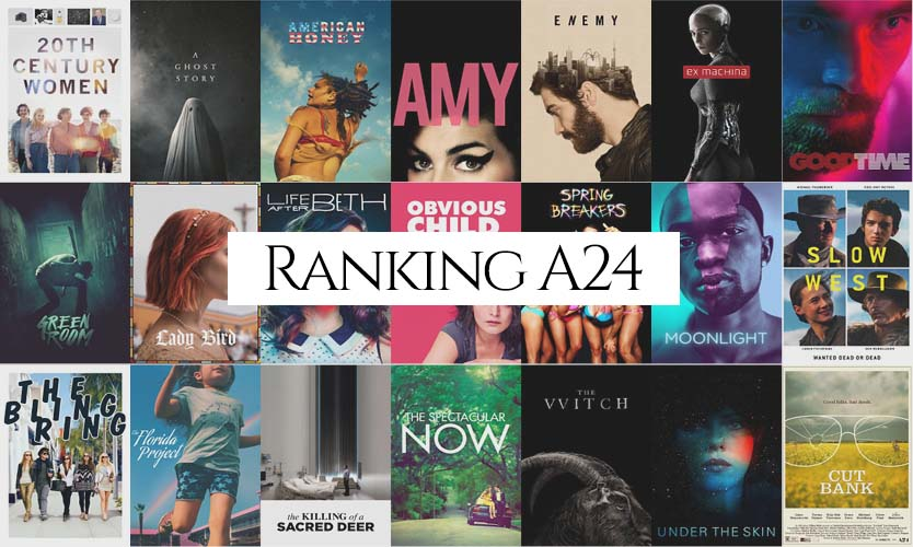 Ranking A24 Studios Entire Catalog