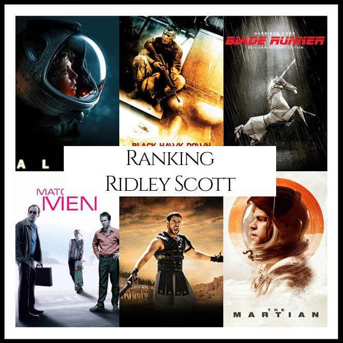 Ridley Scott Filmography Movie Ranking