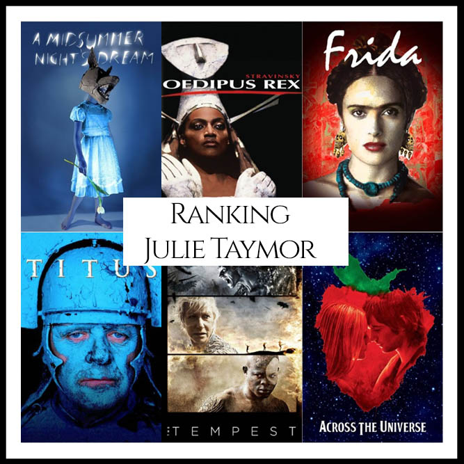Julie Taymor Filmography Movie Ranking