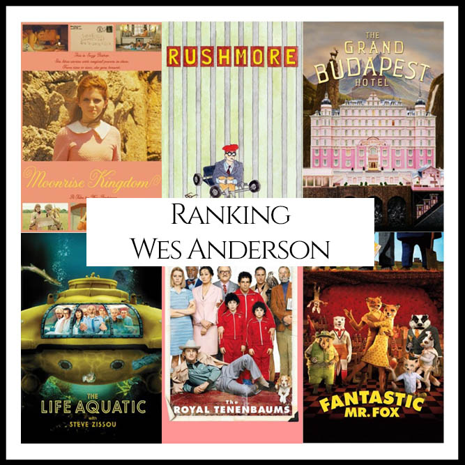 Wes Anderson Filmography Movie Ranking