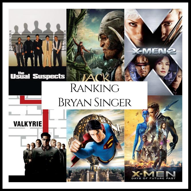 Bryan Singer Filmography Movie Rankings